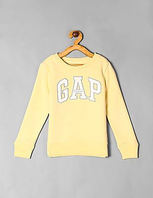 GAP Yellow Girls Logo Sweatshirt