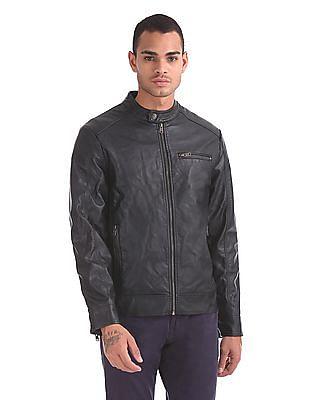 Aeropostale Stand Collar Biker Jacket