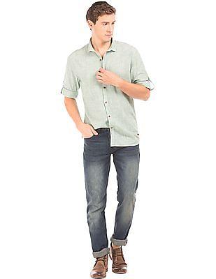 Cherokee Patterned Weave Regular Fit Shirt