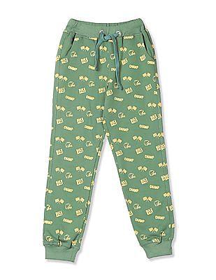 Cherokee Green Boys Printed Knit Joggers