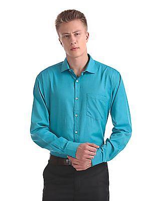 Excalibur Classic Regular Fit Long Two Tone Shirt