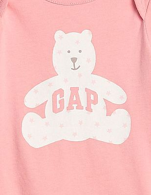 GAP Baby Pink Logo Graphic Bodysuit