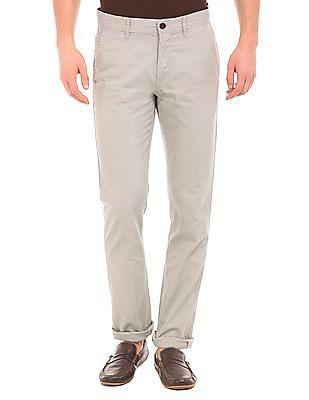 Arrow Sports Dobby Weave Slim Fit Trousers