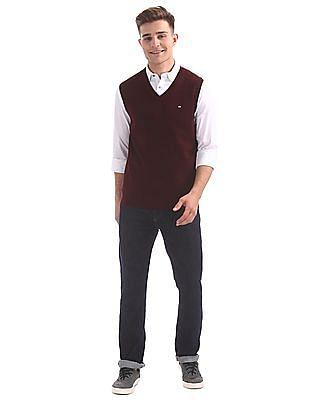 Arrow Sports V-Neck Sleeveless Sweater