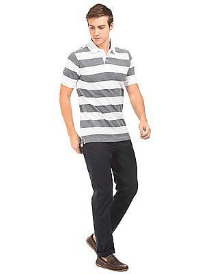 Nautica Bar Striped Pique Polo Shirt