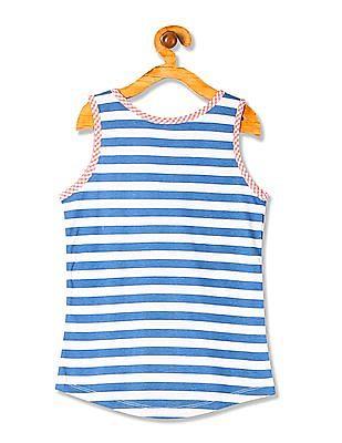 U.S. Polo Assn. Kids Girls Standard Fit Striped Tank Top