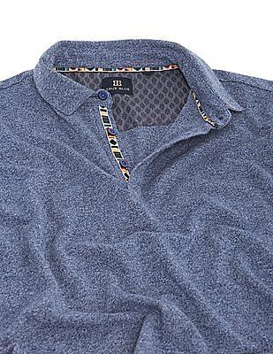 True Blue Regular Fit Heathered Polo Shirt