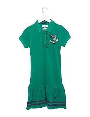 U.S. Polo Assn. Kids Girls Drop Waist Polo Dress