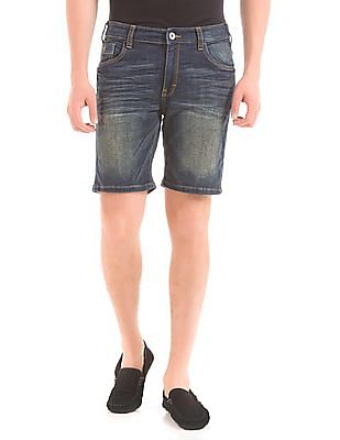 Izod Stone Wash Denim Shorts