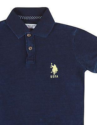 U.S. Polo Assn. Kids Boys Washed Pique Polo Shirt