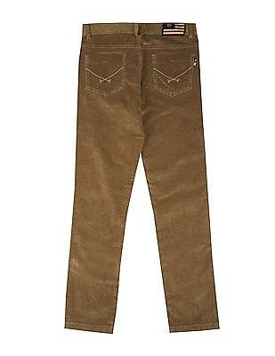 U.S. Polo Assn. Kids Boys Regular Fit Corduroy Trousers