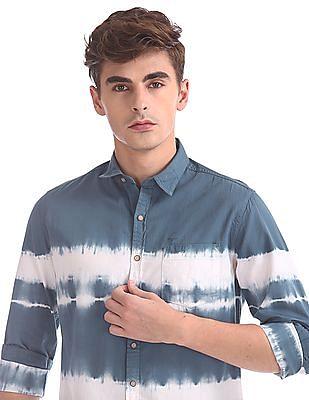 Flying Machine Regular Fit Dyed Shirt