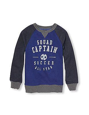 The Children's Place Boys Long Raglan Sleeve Sport Graphic Sweatshirt