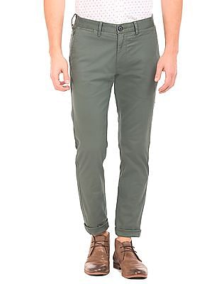 U.S. Polo Assn. Pigment Dyed Flat Front Trousers