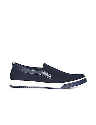 Flying Machine Contrast Sole Low Top Slip On Shoes