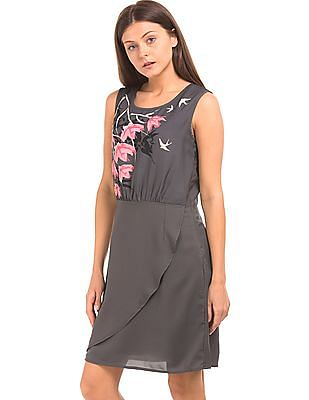 Cherokee Floral Print Sleeveless Sheath Dress