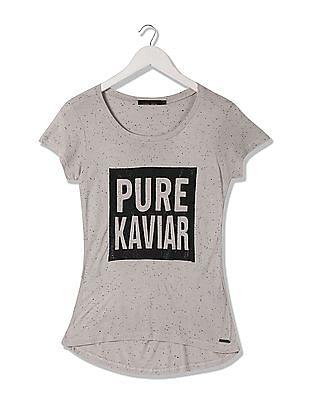 EdHardy Women Round Neck Embellished T-Shirt