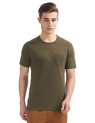 Cherokee Patch Pocket Slubbed T-Shirt