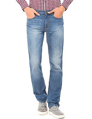 Newport Mid Rise Stone Wash Jeans