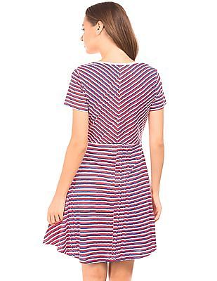 SUGR Panelled Striped T-Shirt Dress