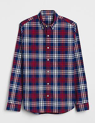 GAP Pattern Poplin Shirt In Stretch