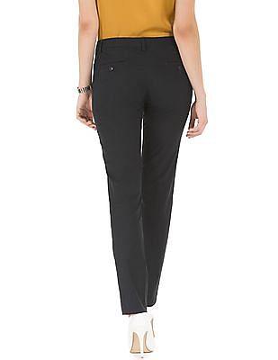 Arrow Woman Flat Front Regular Fit Trousers