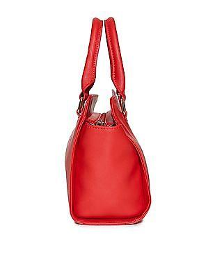 U.S. Polo Assn. Women Detachable Strap Solid Satchel Bag