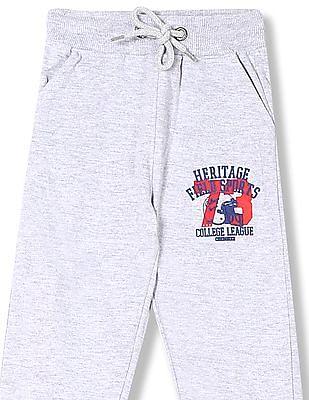 Cherokee Boys Mid Rise Heathered Track Pants
