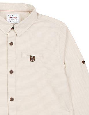 Donuts Boys Striped Cotton Shirt