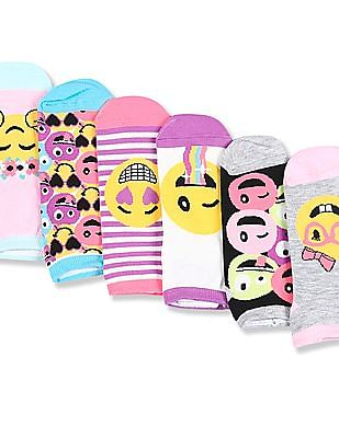 The Children's Place Assorted Girls Emoji Ankle Socks - Pack Of 6