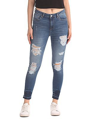 Aeropostale High Rise Washed Jeans