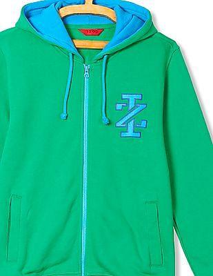 Izod Zip-Up Hooded Sweatshirt