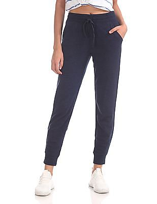 Aeropostale Drawstring Waist Solid Joggers