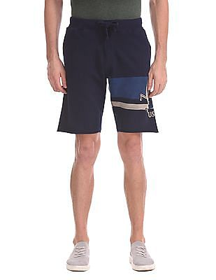 U.S. Polo Assn. Denim Co. Raw Hem Printed Shorts