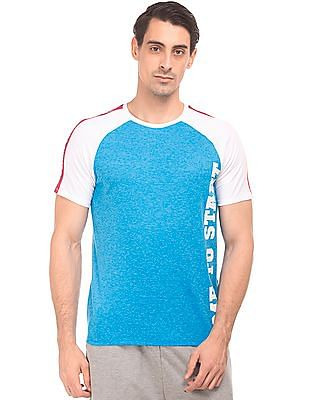 Colt Perforated Body Colour Block T-Shirt