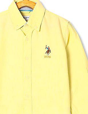 U.S. Polo Assn. Kids Boys Solid Oxford Shirt