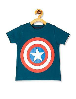 Colt Green Boys Crew Neck Shield Graphic T-Shirt
