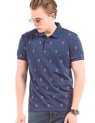 Gant French Lily Print Pique Polo Shirt