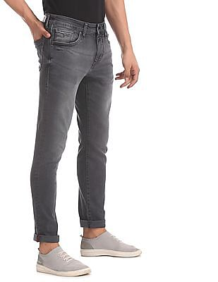 Flying Machine Grey Prince Slim Fit Washed Jeans