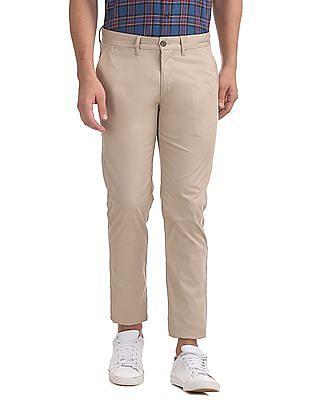 Arrow Sports Slim Fit Flat Front Trousers