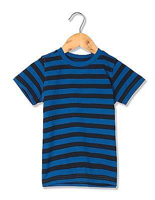 Cherokee Round Neck Striped T-Shirt