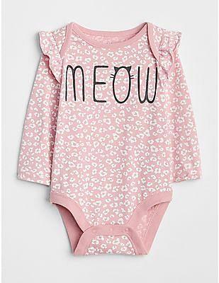 GAP Baby Ruffle Graphic Long Sleeve Bodysuit