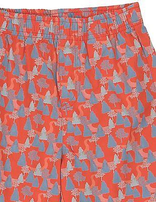 FM Boys Boys Printed Cotton Shorts