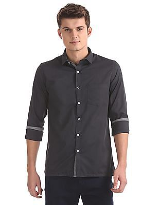 Excalibur Slim Fit Striped Weave Shirt