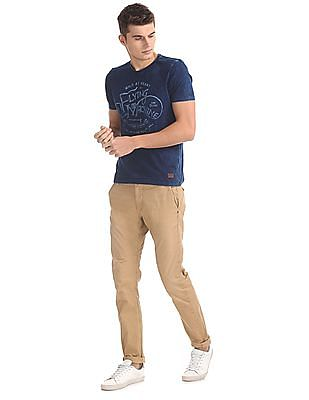 Flying Machine Super Slim Fit Solid Trousers