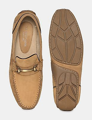 U.S. Polo Assn. Brown Horsebit Leather Loafers