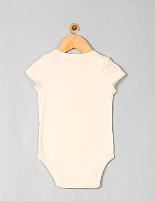 GAP Baby White Hello City Graphic Bodysuit