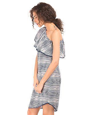 Elle One Shoulder Printed Shift Dress