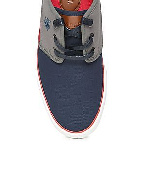 U.S. Polo Assn. Colour Blocked Canvas Sneakers