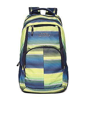 Flying Machine Green Printed Laptop Backpack